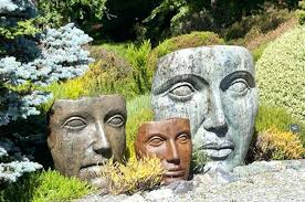 cement garden statues. Brilliant Statues Concrete Garden Statues Nature Faces Embellishing    In Cement Garden Statues