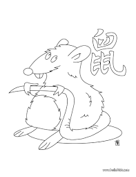 Small Picture The year of the rat coloring pages Hellokidscom