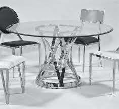 janet glass steel 54 inch round 12mm 1 inch bevel dining table glass round dining table