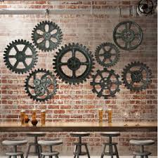 image is loading 13 types vintage retro industrial wood wooden gear  on cafe wall artwork with 13 types vintage retro industrial wood wooden gear bar cafe wall