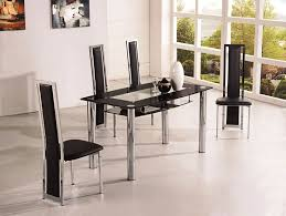 rovigo small glass chrome dining room table and 4 chairs set 105 cm ij601 8