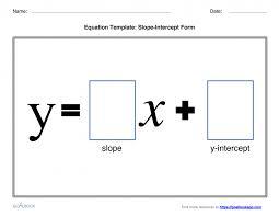 slope intercept form math definition equation template goalbook pathways examples slopeinterc worksheet calculator converter vertex standard