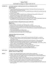 Operations Manager Resume Sample Airport Operations Manager Resume Samples Velvet Jobs