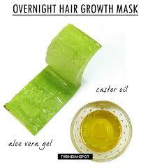 aloe vera and castor oil overnight hair growth mask