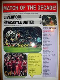 Amazon.com: Liverpool 4 Newcastle United 3 - 1996 - souvenir print:  Everything Else