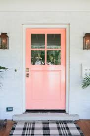 loving this pretty c front door such a pretty salmon door old world pink