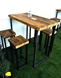 tall wooden table legs new industrial high with thick top for the home
