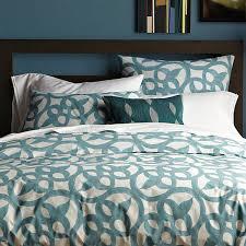 teal patterned bedding designs