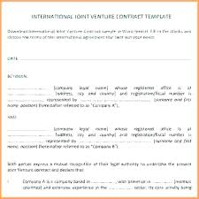 Contractual Joint Venture Agreement Template Andrewhaslen Co
