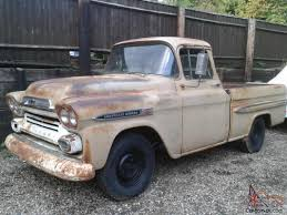 1958 Chevrolet Apache Fleetside Pick Up Truck Rare Big Back Window ...