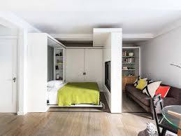 Picture of Small bedroom interior design with creative divider