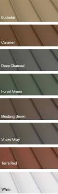 Taylor Metal Products Color Chart 13 Best Metal Roof Colors Images Metal Roof Metal Roof