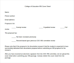 college of education irb cover sheet template download in word document irb cover letter sample