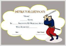 martial arts certificate template martial arts award certificates 20 different templates for you to