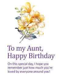 Birthday On Day Card You Are Loved Happy Birthday Card For Aunt Birthday Greeting