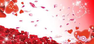 wedding background banner red heart starlight background image