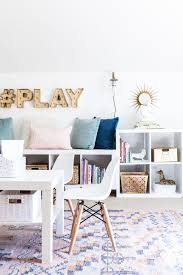 office and playroom. Playroom, Kids Space, Stylish Media Room, Organization, Storage, Play Office And Playroom E