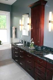 bathroom cabinets st louis. bathroom remodel agape construction company classic modern contemporary bath recessed tower cherry cabinets frameless mirrors chic st louis