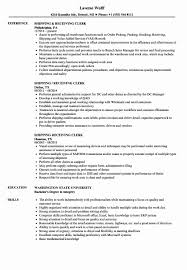 Shipping Receiving Clerk Sample Resume Shipping And Receiving Resume Sample Awesome Shipping Receiving 19