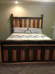pallet ideas for bedroom. bedroom wall decor awesome two toned pallet king size bed frame diy ideas for