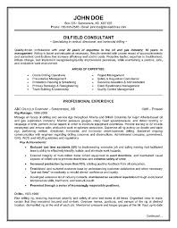 oilfield consultant resume example page 1 security objectives for resume