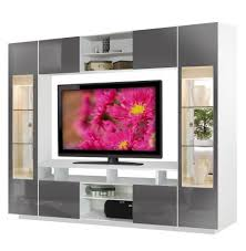 tyler wall unit dark grey glass