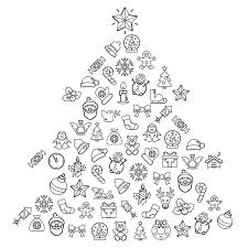 Albero Di Natale Con Figure Geometriche Disegni Di Natale 2019
