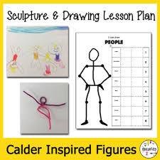 Elementary Art Lesson Plans Elementary Art Lesson Plan Figure Sculpture And Drawing Inspired By Calder
