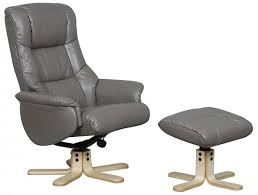 grey leather recliner. Shanghai Grey Leather Recliner Chair With Footstool U