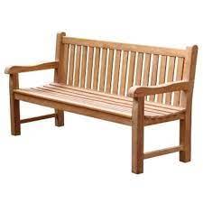 traditional teak garden bench