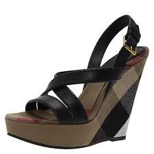 black leather warlow platform wedge sandals size 40 nextprev prevnext