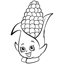 Small Picture Shopkins Exclusive Coloring Page Corny Cob Get Coloring Pages