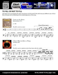 Chart Topping Drum Fills Pdf To Fill Or Not To Fill Onlinedrummer Com