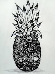 pineapple tumblr drawing. pin drawn pineapple zentangle #5 tumblr drawing a