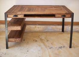 wooden desk ideas. pallet wood desk with 2 drawers center shelf and lower shelves by kensimms onu2026 wooden ideas i