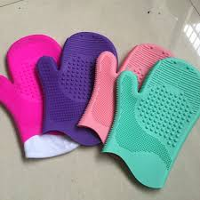 makeup brush cleaner silicone. silicone one finger makeup brushes cleaning gloves brush clean glove scrubbing mat pad big brushegg with cleaner