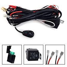 amazon com kawell® universal 2 lead led light bar wiring harness kawell® universal 2 lead led light bar wiring harness kit fuse relay on