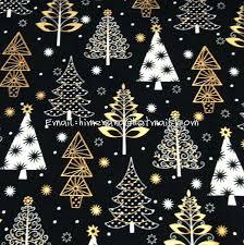 tree fabric 1 yard cotton woven fabric day gold tree black tree of life fabric shower