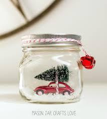 Mason Jar Crafts Car In Jar Snow Globe Mason Jar Crafts Love