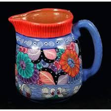 Decorative Ceramic Pitchers Decorative Ceramic Pitchers Ceramic Pitcher Vase Hand Made Painted 26
