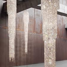 modern italian vertical crystal chandelier