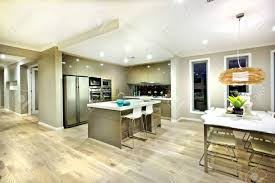 view modern house lights. Modern Kitchen And Dinning Area Interior View Of A House With Lights On At Night E