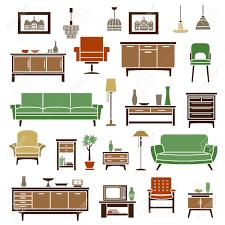Elementi mobili per la casa con divani verdi morbidi poltrone