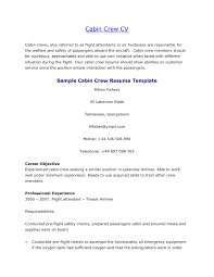 Cabin Crew Objective Resume Sample 5 Extraordinary Resume Flight