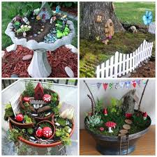 Small Picture 10 Amazing Miniature Fairy Garden Ideas Garden ideas diy Fairy