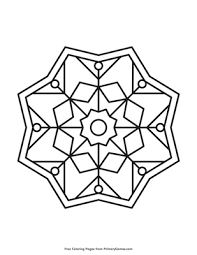 You can find mandala images to color, from easy to hard. Simple Mandala Coloring Page Free Printable Pdf From Primarygames