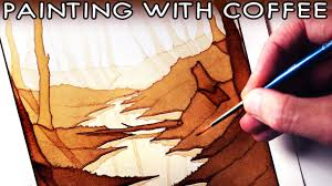 coffee art painting. Unique Art Painting With COFFEE  ART CHALLENGE For Coffee Art L