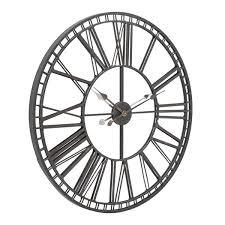 skeleton mirrored wall clock clocks