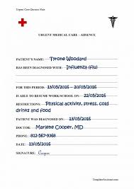 City Md Doctors Note 42 Fake Doctors Note Templates For School Work Printable Templates
