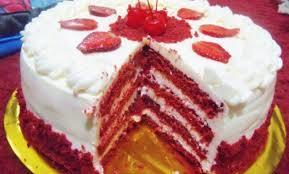 Kue Ulang Tahun Red Velvet Makanan Penutup Red Velvet Cake Dan